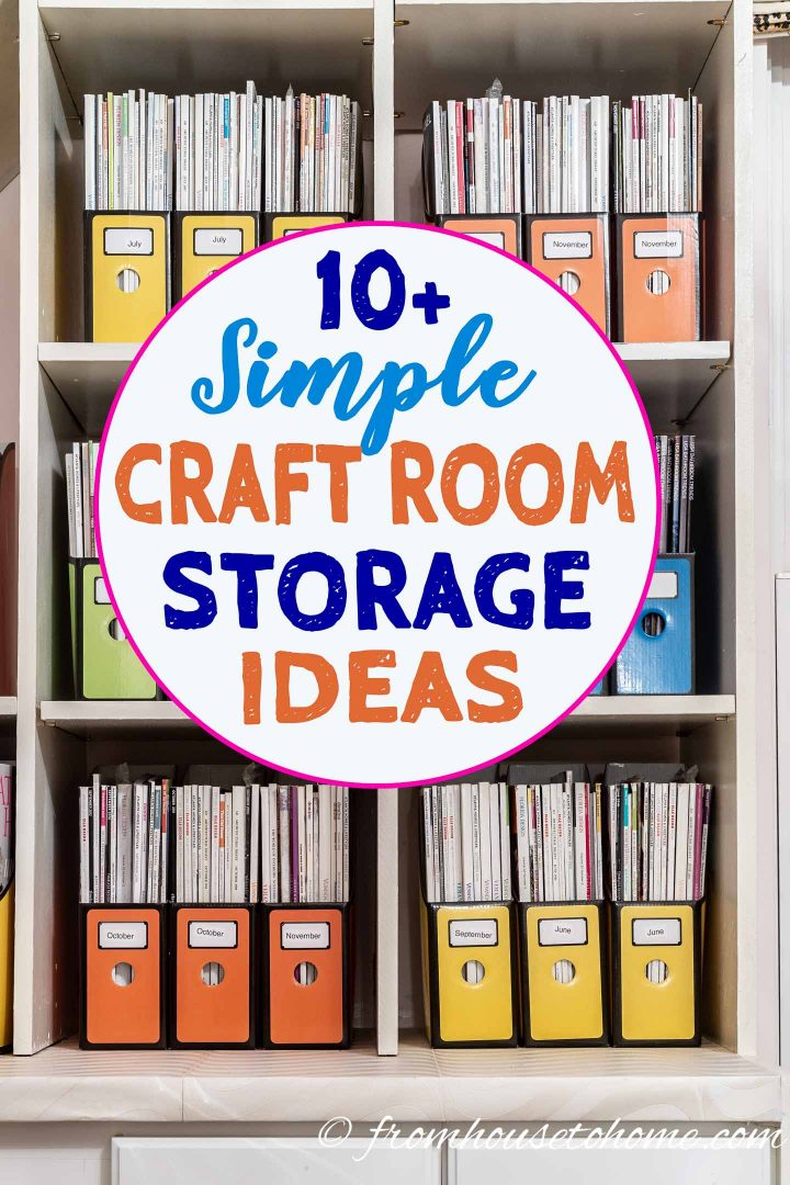 Sewing and Craft Room Organization and Storage Ideas