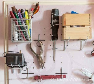 Craft room tool storage