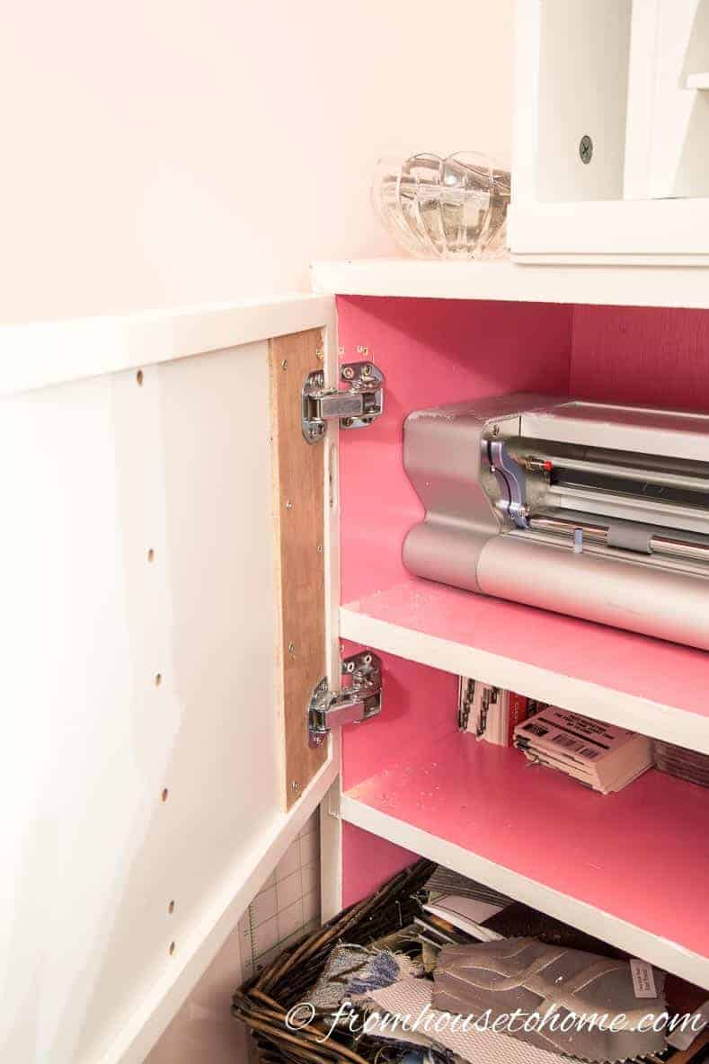 Add spool rack as a door | 10 Simple Craft Room Organization and Storage Ideas | If you're looking for easy ways to organize your crafting supplies on a budget, these DIY storage and organization tips and ideas are perfect.