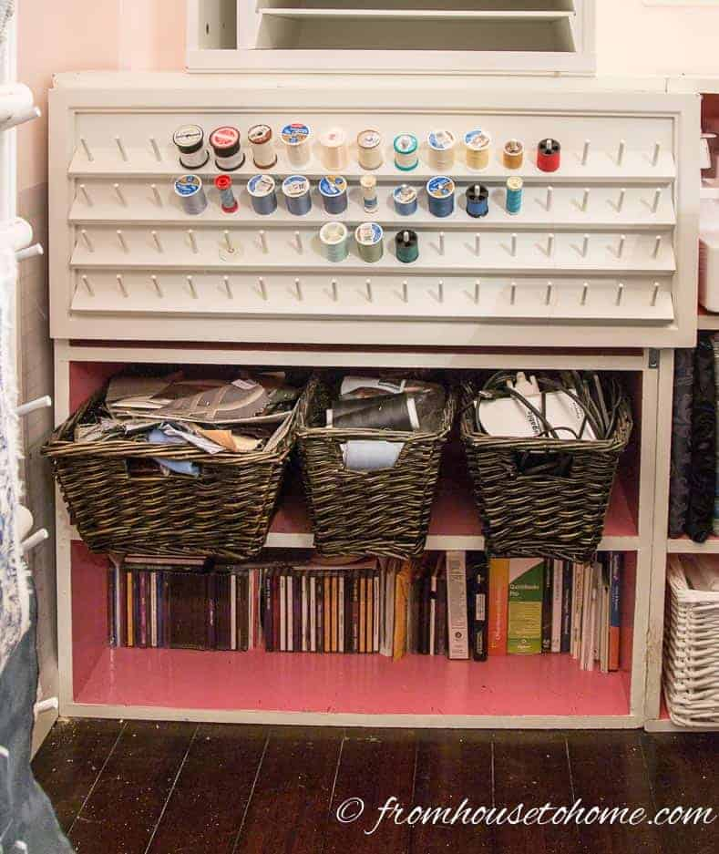 A spook rack doubles as a door | 10 Simple Craft Room Organization and Storage Ideas | If you're looking for easy ways to organize your crafting supplies on a budget, these DIY storage and organization tips and ideas are perfect.