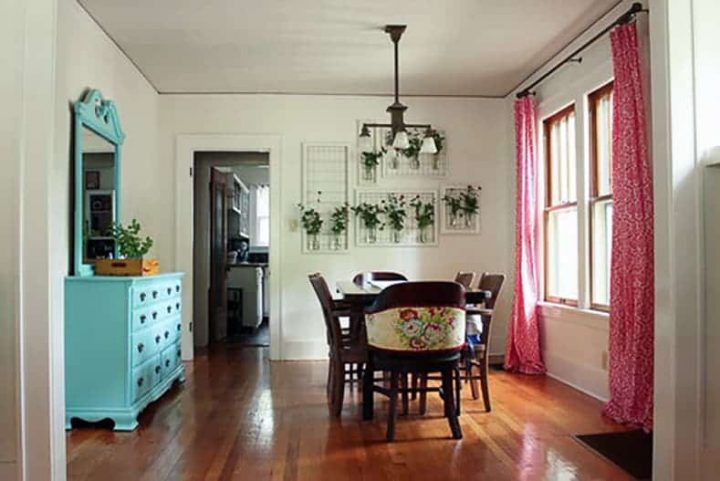 Dining room with a dresser