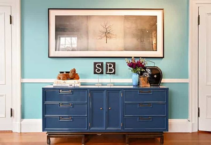 Hallway with a dresser as a console table