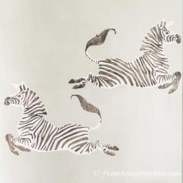 How To Make DIY Zebra Wallpaper Inspired By Scalamandre