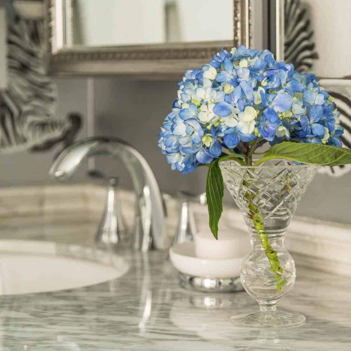 master bathroom makeover hydrangea