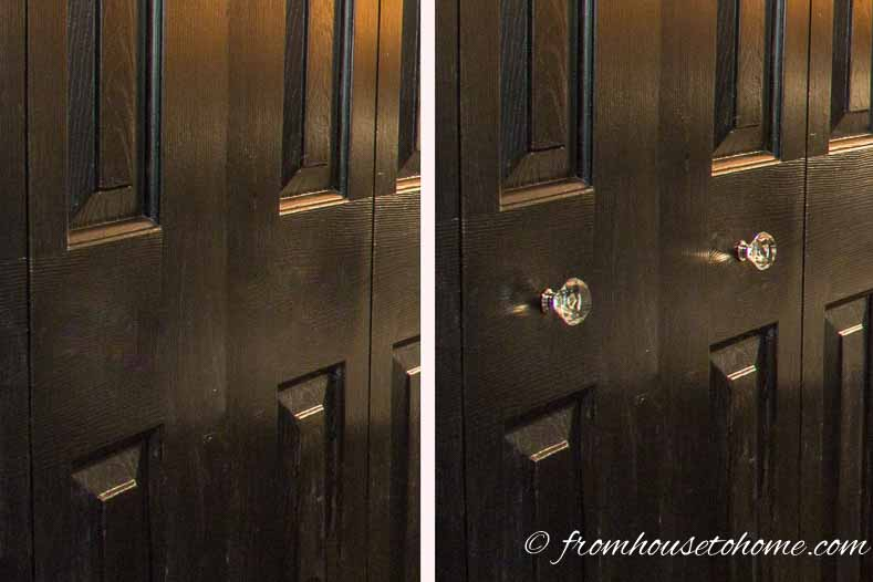 Doors look much better with crystal knobs