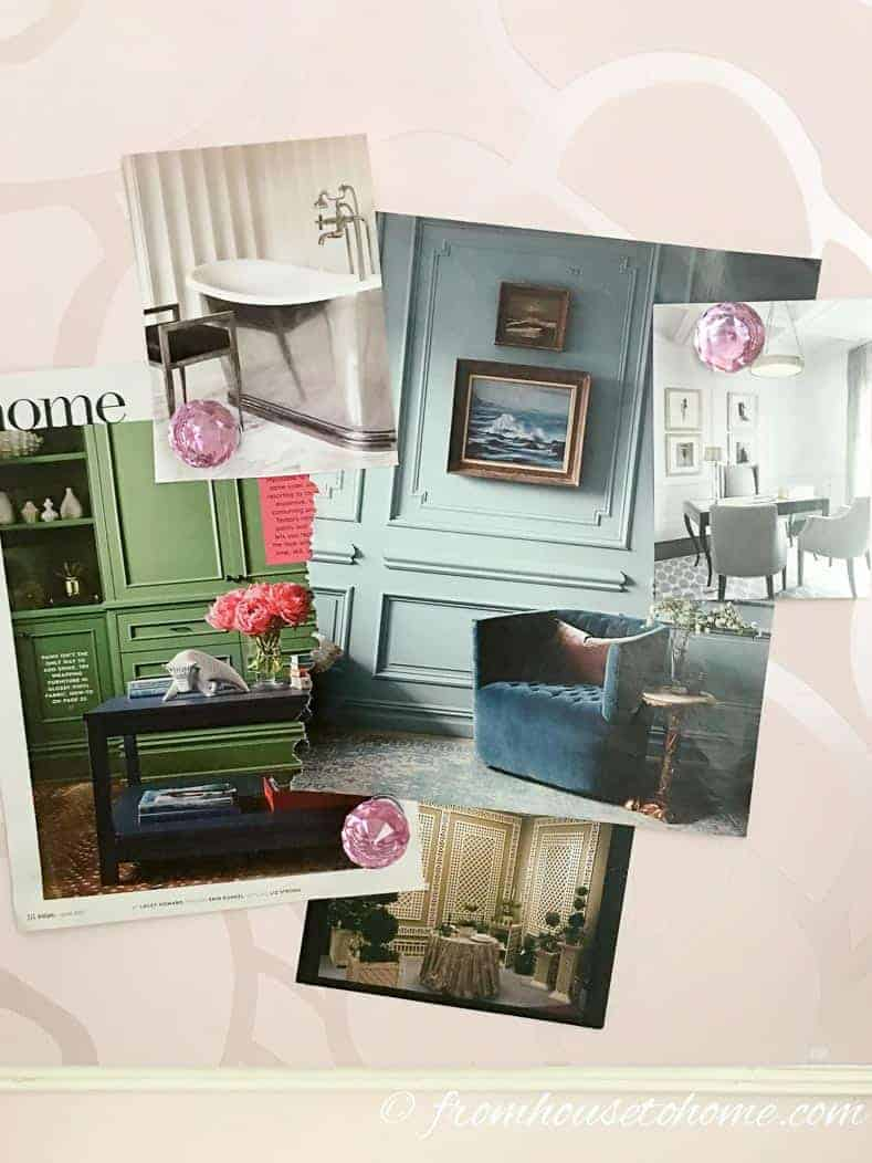 Step 1: Collect pictures you love | What Is My Decorating Style? 5 easy steps that will prevent decorating mistakes | If you are trying to figure out the answer to 'What is my decorating style?', this 5 step process will make it easy for you to find your own personal design style.
