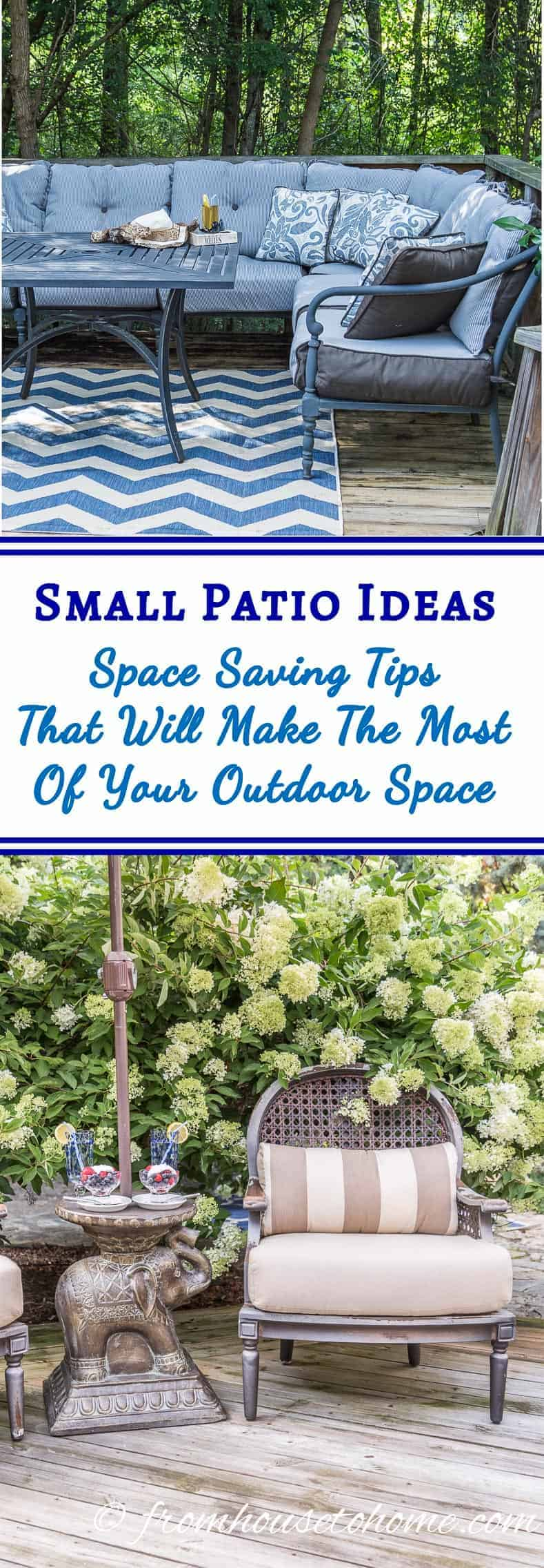 Small Patio Ideas | Just because you have a tiny deck doesn't mean you can't enjoy outdoor living. Use these space-saving tips and small patio ideas to create an outdoor oasis out of whatever space you have.