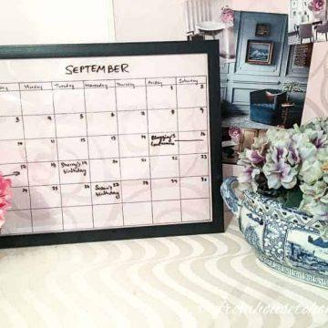 how to make a desk calendar at home