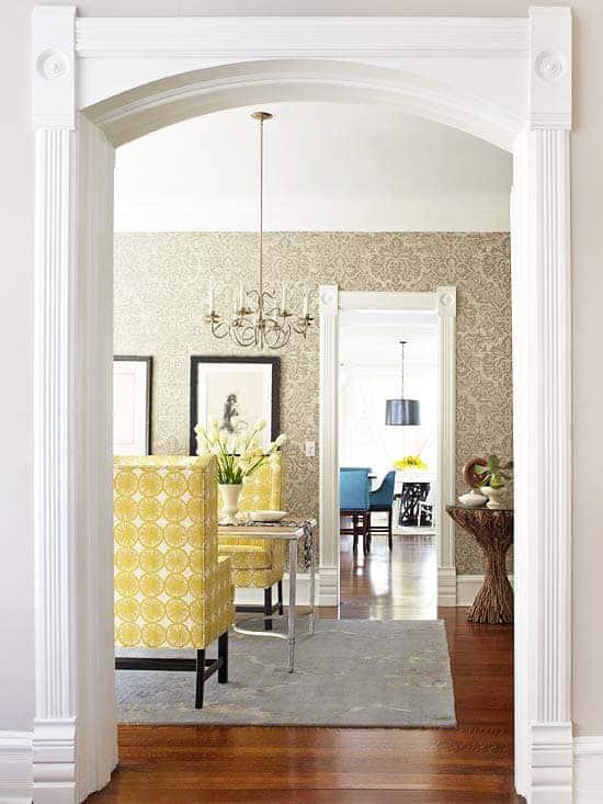 Ornamental door frames. Photo via bhg.com