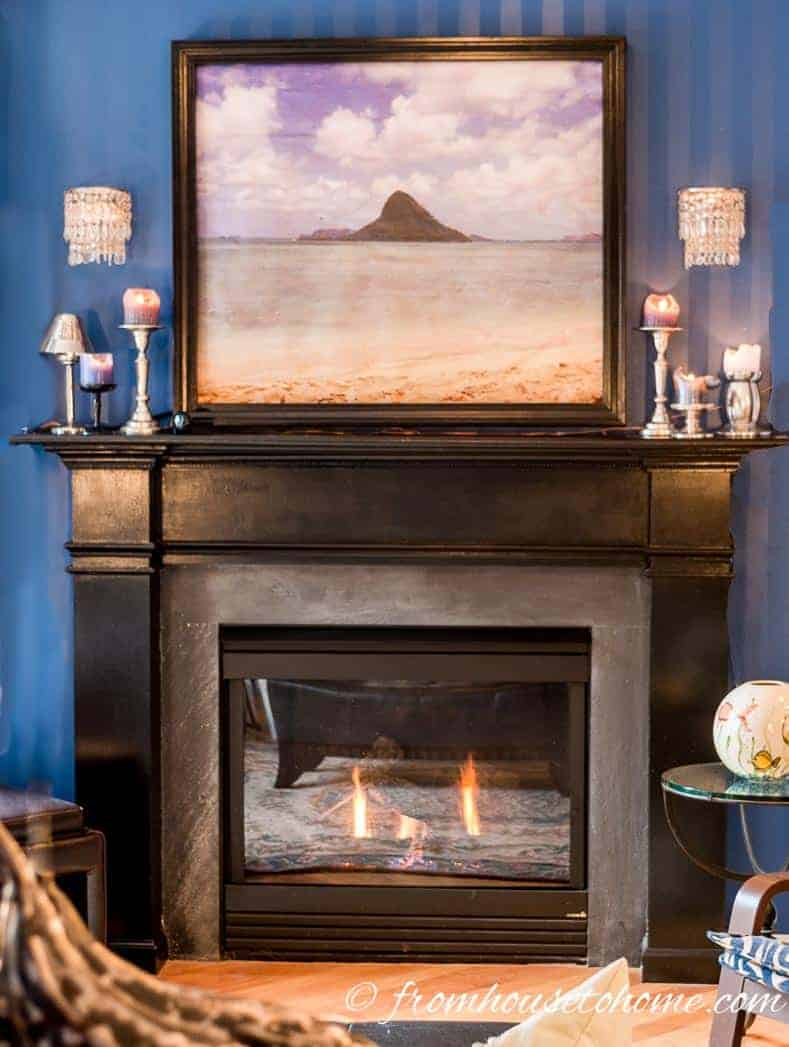 DIY Fireplace surround with moldings