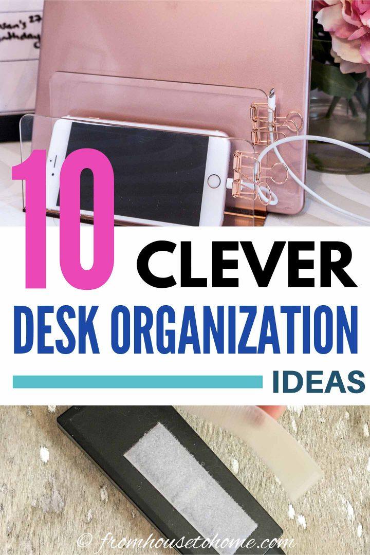 10 clever desk organization hacks