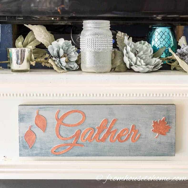 Easy Diy Gather Sign For Your Thanksgiving Decor