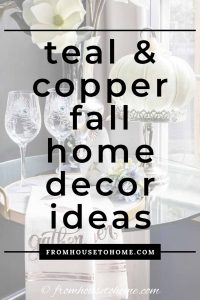teal and copper fall home decor ideas