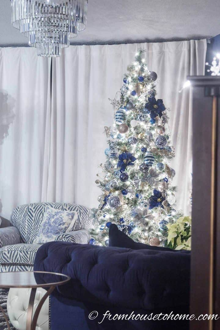 Cool Beautiful Blue And White Christmas Home Decorating Ideas Download Free Architecture Designs Scobabritishbridgeorg