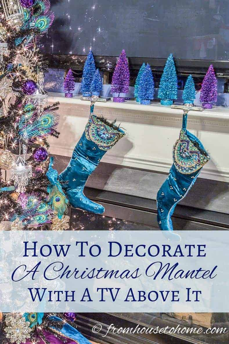 How To Decorate a Christmas Mantel With a TV Above It | Have a TV over your fireplace and need help making it look good for Christmas? Learn some ways to decorate a Christmas mantel with a TV above it.