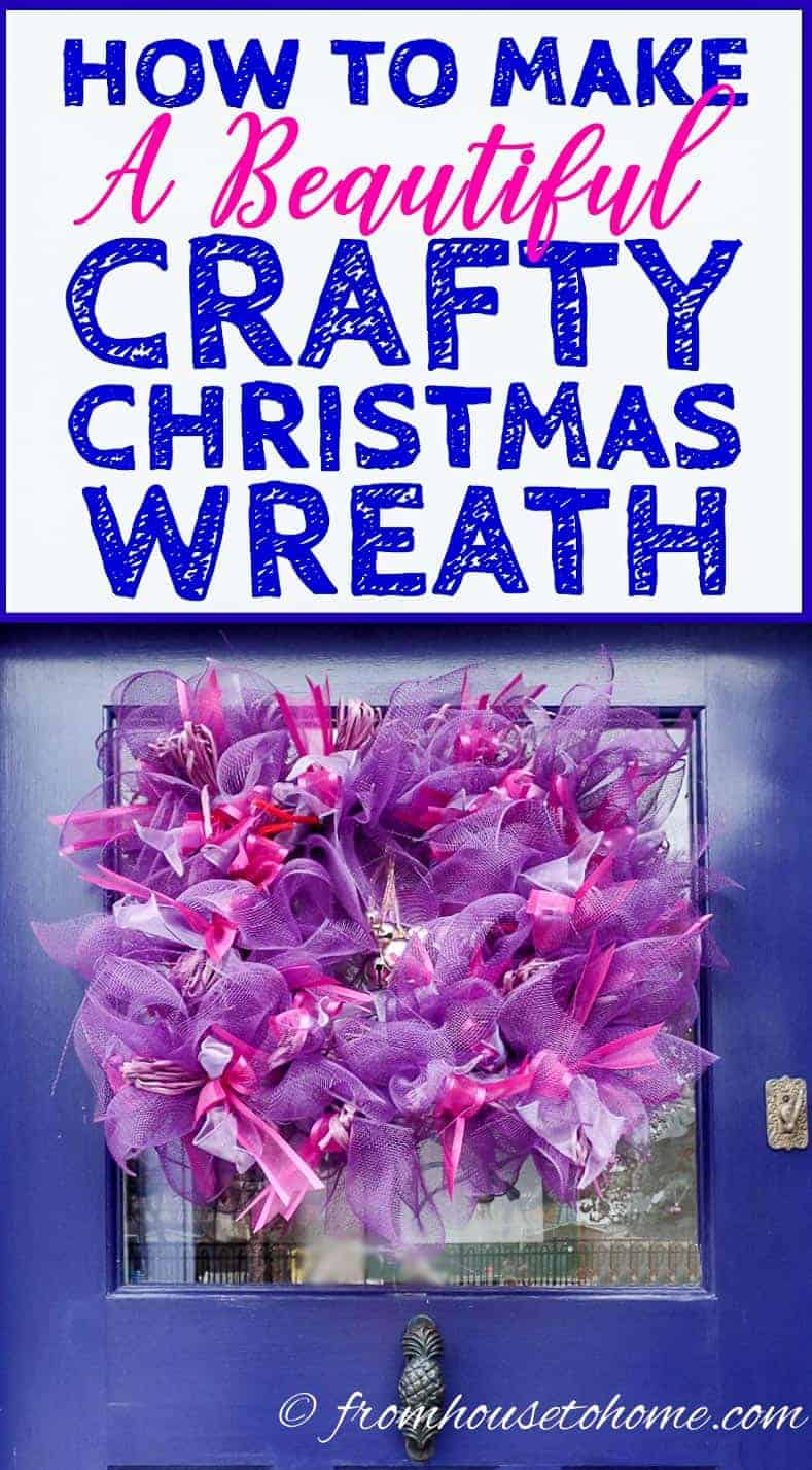 How To Make A Beautiful DIY Crafty Christmas Wreath