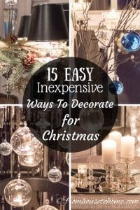 15 easy and inexpensive Christmas decorating ideas
