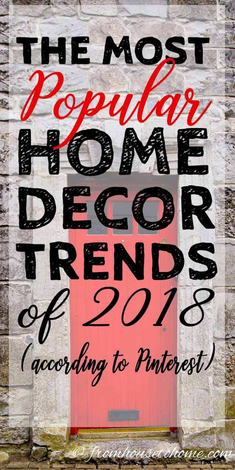 Most Popular Home Decor Trends of 2018