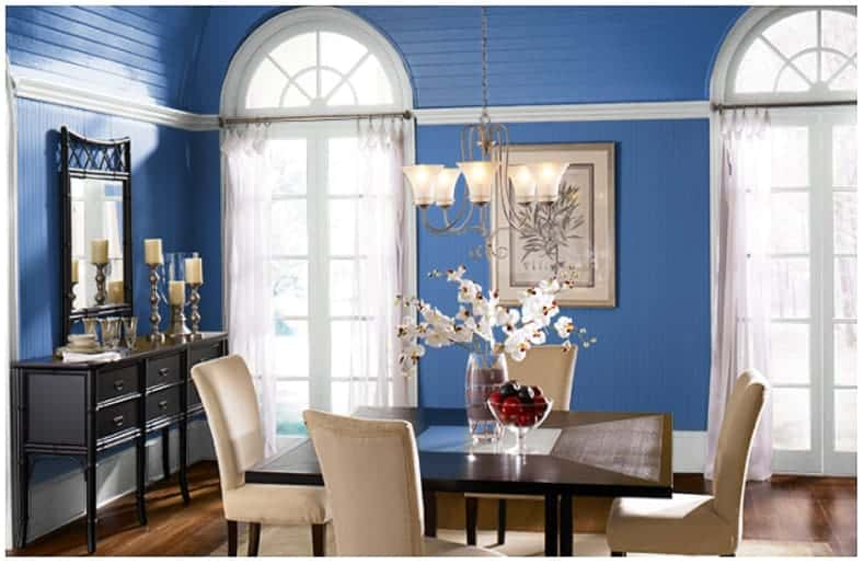 "Dining room in ""Wide Sky"" by Behr"