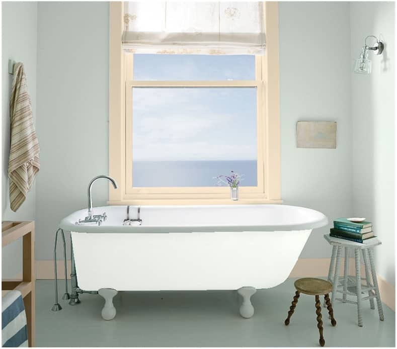 "Bathroom in ""Silver Marlin"" by Benjamin Moore"