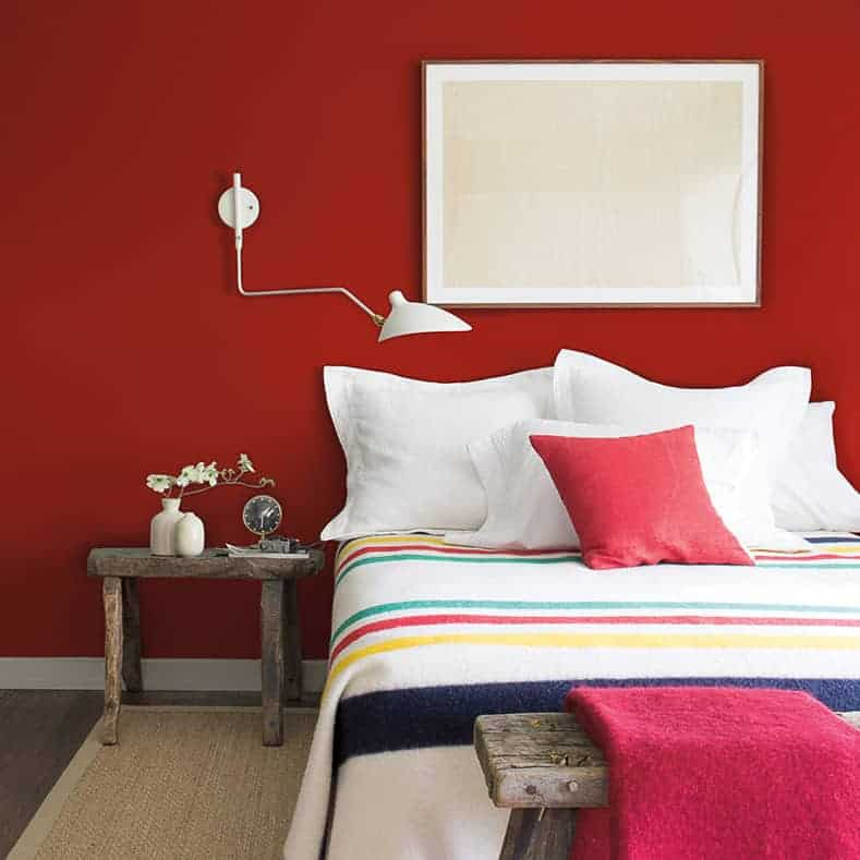 "A bedroom in ""Caliente"" by Benjamin Moore"