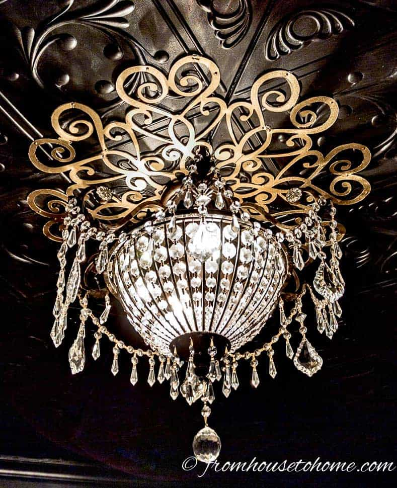 Chandelier and Lace Medallion