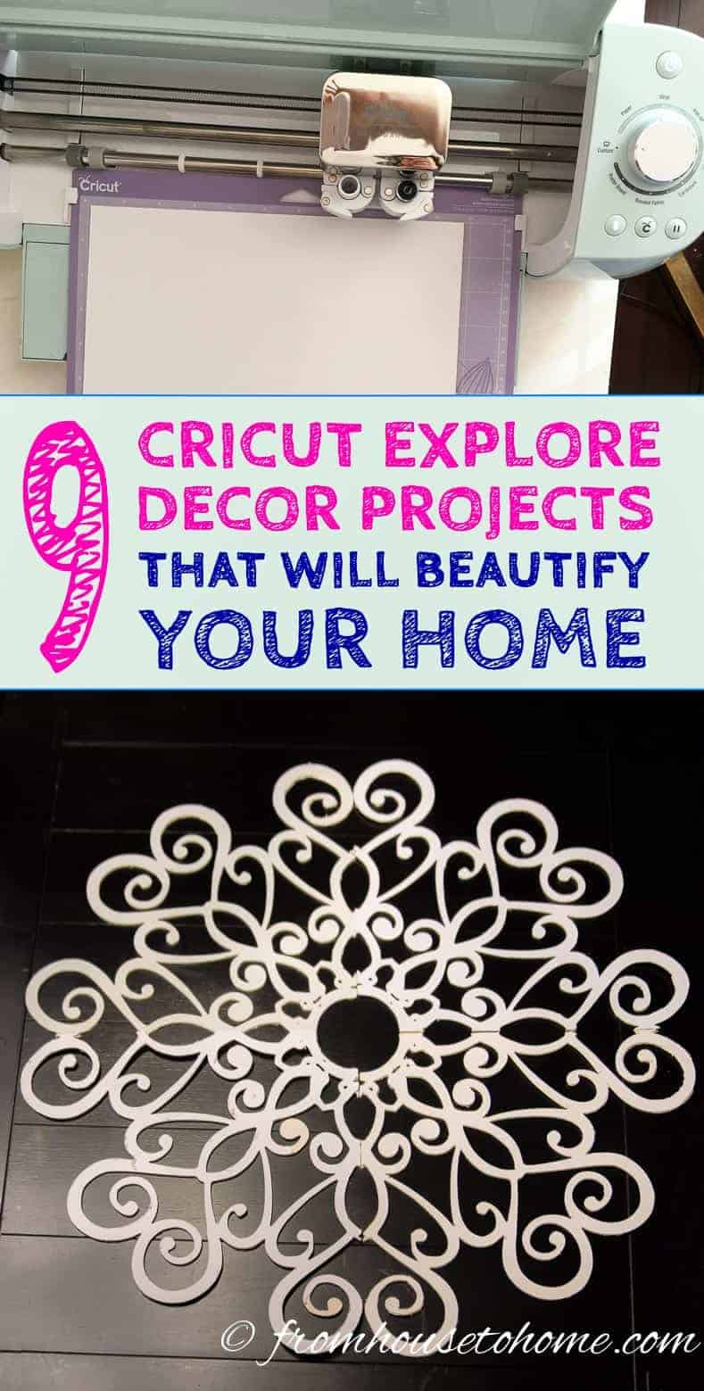 Cricut Explore decor projects that will beautify your home
