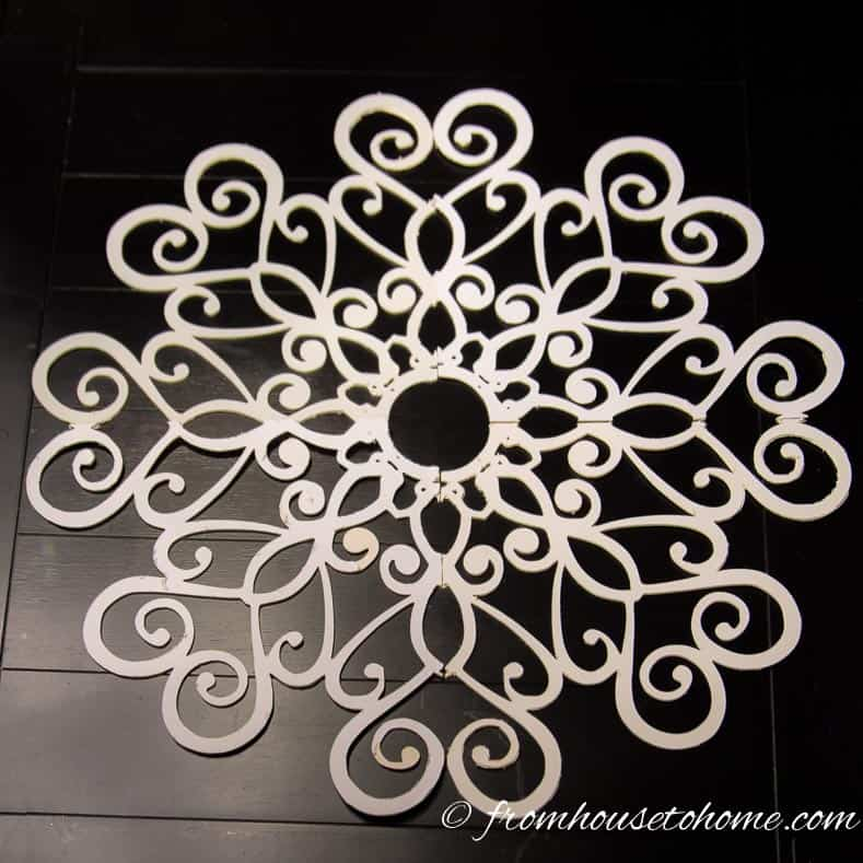 Lace ceiling medallion cut with Cricut machine
