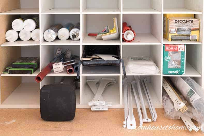 A shoe organizer is great for storing long narrow parts