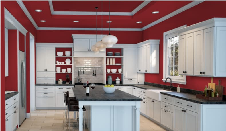 "A kitchen in ""Heartthrob"" by Sherwin Williams"