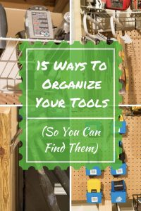 Tool organizing ideas