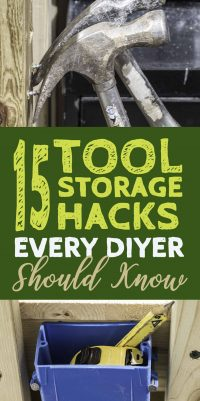 Tool storage ideas for the garage