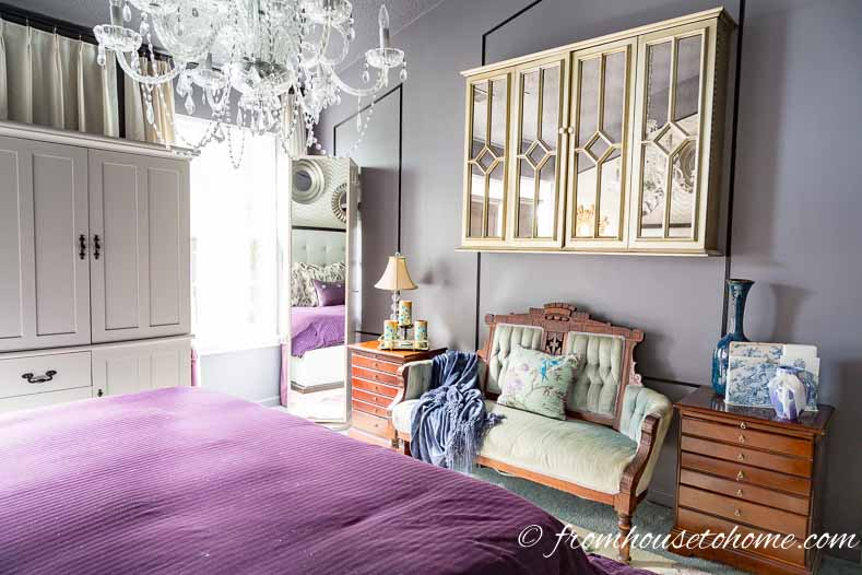 """The bedroom reading area """"before"""""""