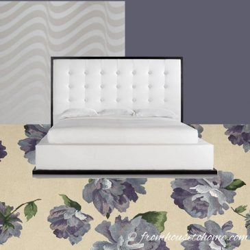 Eclectic, Modern, Glam Master Bedroom Design Plan