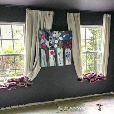 Moody Master Bedroom Makeover – No More Carpet!