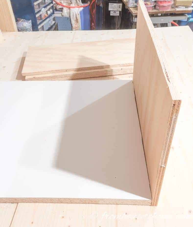 Attach the drawer end to the bottom