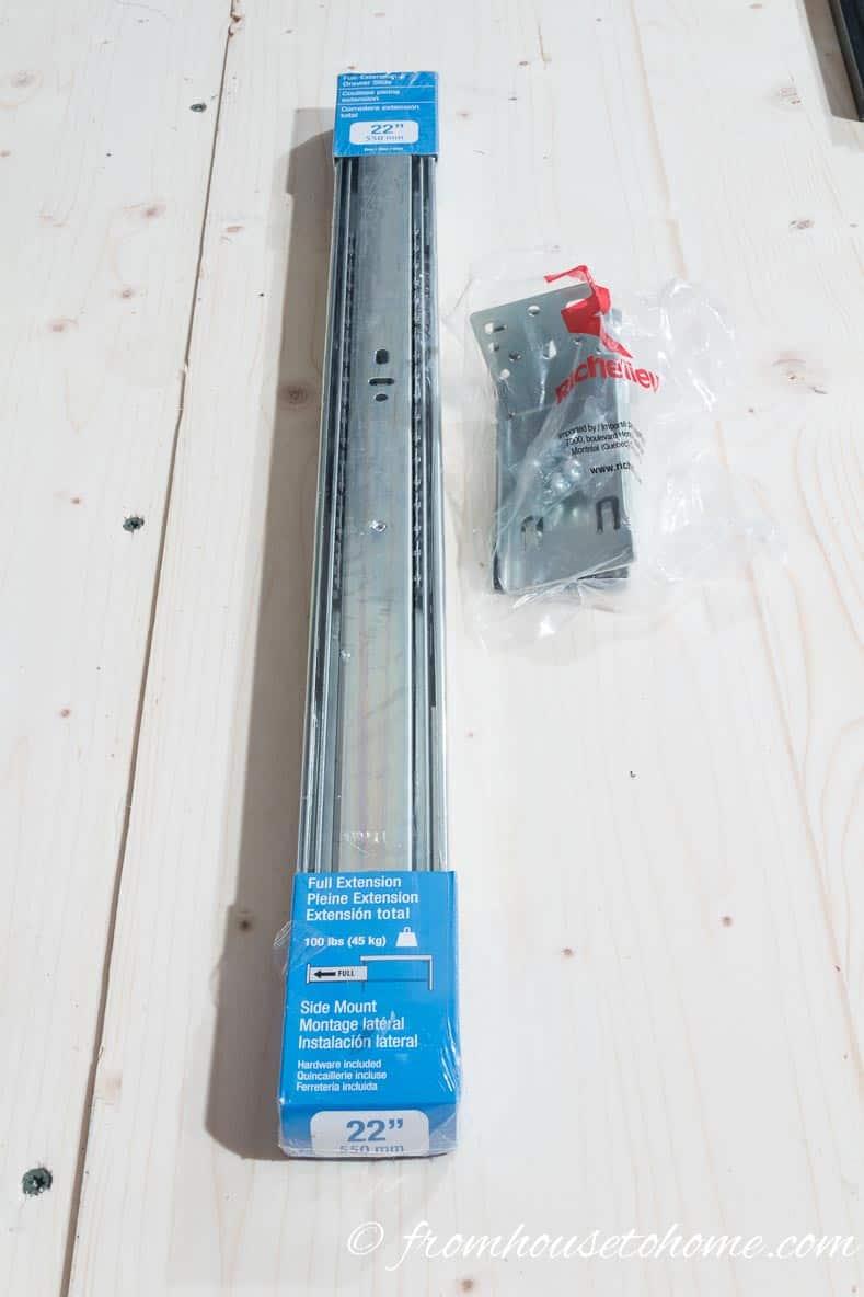 Full extension heavy duty drawer slide