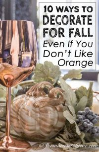 Fall home decor ideas for people who don't like orange