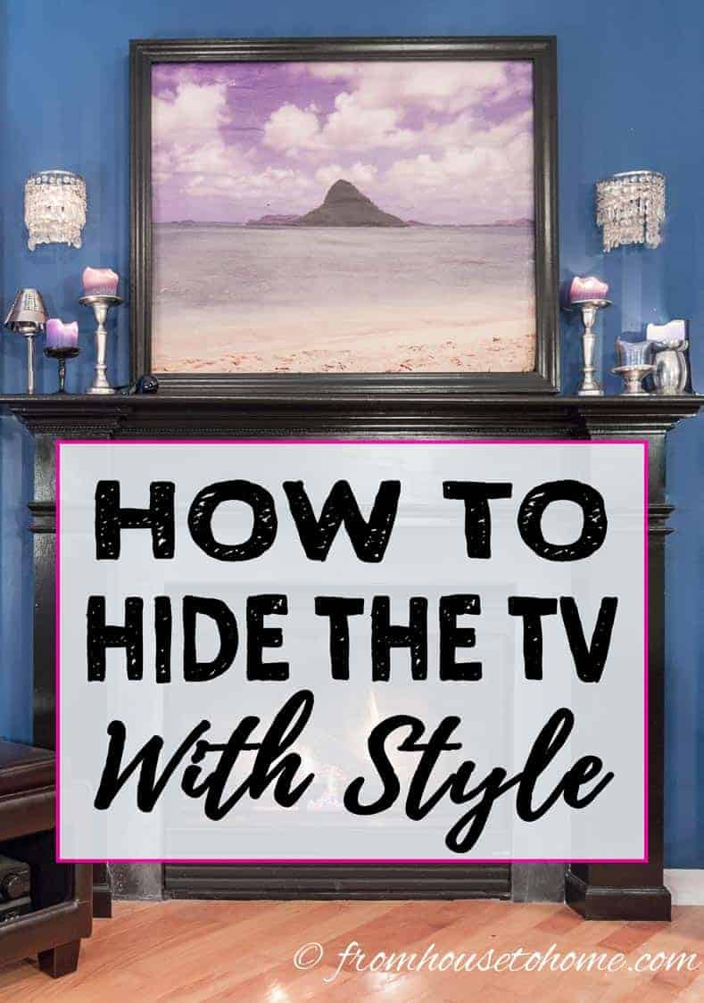 How To Disguise or Hide The TV With Style
