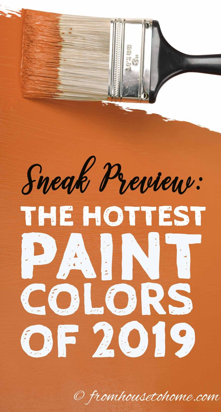 Hottest paint colors of 2019