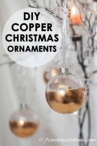 DIY Copper Christmas Ornaments