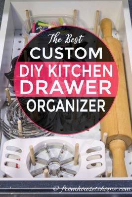 Custom DIY kitchen drawer organization