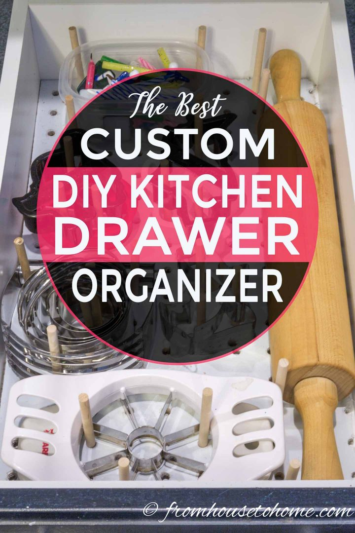 Custom DIY kitchen drawer organization