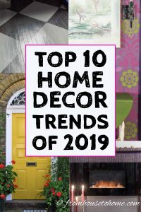 2019 top home decor trends