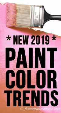 New 2019 paint color trends