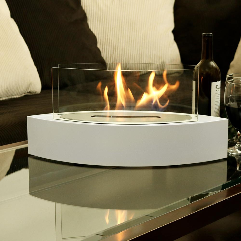 Contemporary table top fireplace