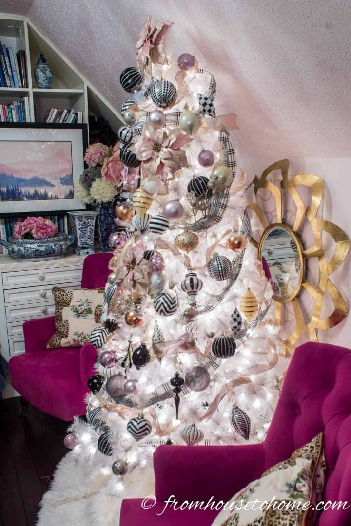Blush Pink White And Black Christmas Tree And 20 Other Christmas
