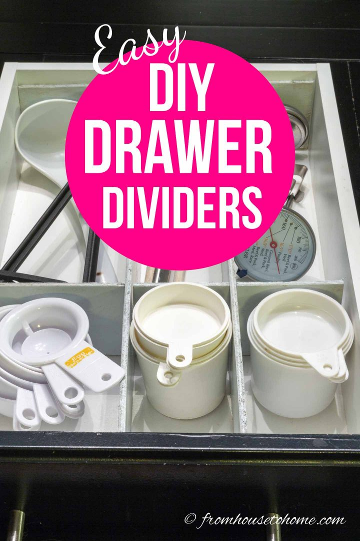 Super easy custom wood DIY drawer dividers