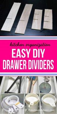Easy custom wood DIY drawer dividers