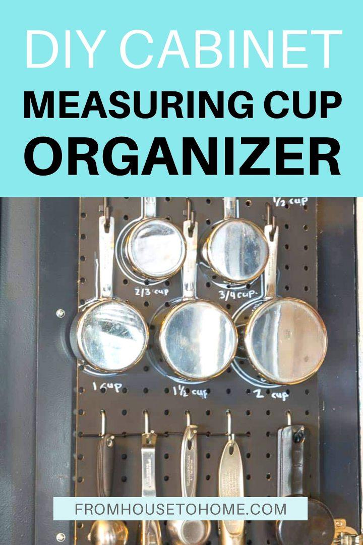 DIY behind-the-door measuring cup organizer